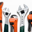 Plumbing wrenches set - Foto Stock