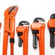 图库照片: Plumbing wrenches set