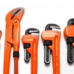 Plumbing wrenches set — Stock Photo