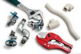 Vvs-verktyg med rör — Stockfoto