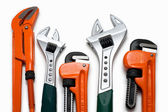 Plumbing wrenches set — Foto Stock