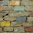 Retro bricks background — Stock Photo