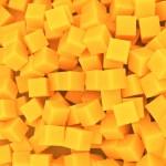 Orange cubes background — Stock Photo