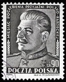 Stalin on postal stamp — Stock Photo