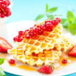 Waffles with berries — Stock Photo #10796945