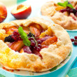 Fruit galette — Stock Photo