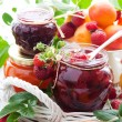 Various jams in jars — Stock Photo #10797981