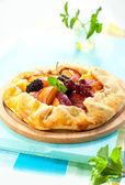 Fruit galette — Stock Photo