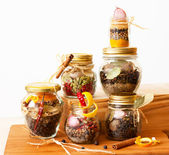 Herb mixtures and spicy blends — Stock Photo