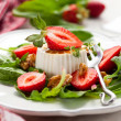 Goat Cheese and Strawberry - Stockfoto