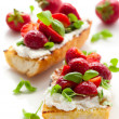 Strawberry bruschetta - Stockfoto