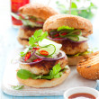 Thai chicken burger — Stock Photo