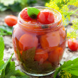 Homemade tomatoes preserves — Stock Photo