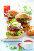 Thai chicken burger — Stockfoto