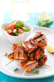 Chicken masala skewers — Stock Photo