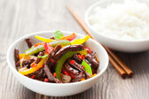 Beef stir-fry — Stock Photo