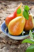 Peras frescas — Fotografia Stock