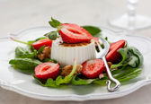 Goat Cheese and Strawberry — Stock Photo