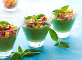 Green Gazpacho — Stock Photo