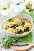 Broccoli and cauliflower gratin — Stock Photo