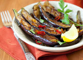 Grilled eggplants — Stock Photo