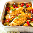 Chicken breasts  and vegetables — Foto Stock