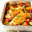 Постер, плакат: Chicken breasts and vegetables
