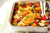 Chicken breasts and vegetables — Stock Photo