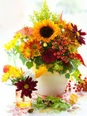 Autumnal flowers — Stock Photo