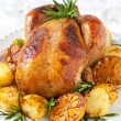 Stock Photo: Roast chicken