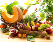 Autumnal vegetables and fruits — Stock Photo