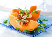 Prosciutto and melon. — Stock Photo