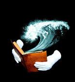 Kniha mořské dobrodružství — Stock fotografie