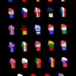 NATO flagi — Zdjęcie stockowe
