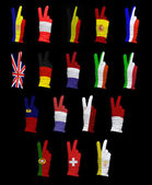 Flags of Western Europe — Stock Photo