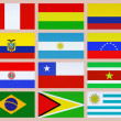 South american flags — 图库照片
