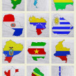 Flags of South American countries — Stock Photo