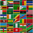 Flags of all African countries - Stock Photo