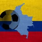 Colombia voetbalzwarte haarborstel 3 — Stockfoto