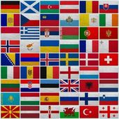 Flags of all European countries — Stock Photo