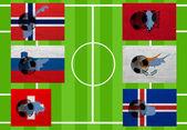 European Football — Stock Photo