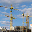 High-rise buildings under construction in progress. — Foto Stock