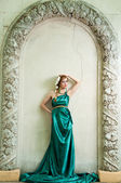 Antiquity. Portrait of attractive beautiful girl in the image of — Stock Photo