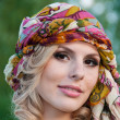 Stock Photo: Large portrait of pretty girl in turban
