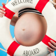 Pregnancy. In anticipation of the child's birth — Stock Photo