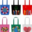 Fashion bags love peace freedom — Stock Vector #11766287