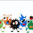 Royalty-Free Stock Vector Image: Monsters with a placard
