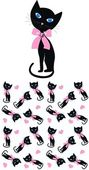 Seamless cat pattern — Stock Vector