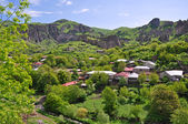 Houses on slope in Armenia — Stock Photo