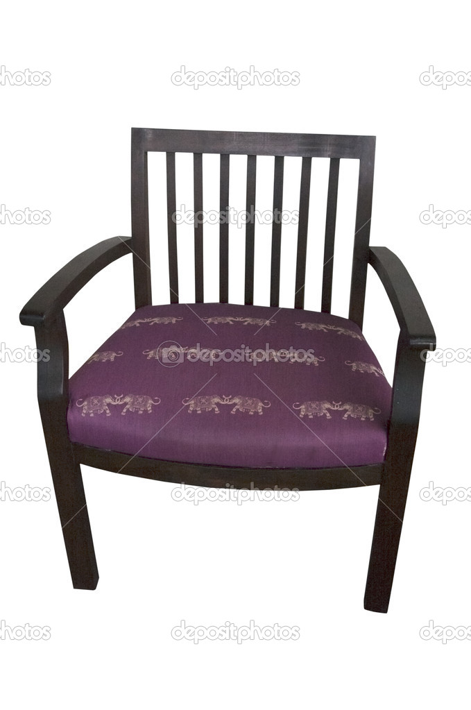 Purple chair or stool isolated on white — Stock Photo #10884859